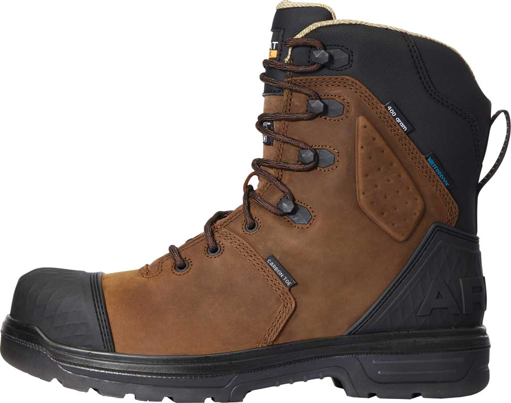 """Men's Ariat Turbo Outlaw 8"""" H2O 400g CSA Composite Toe Boot, Barley Brown Waterproof Full Grain Leather, large, image 2"""
