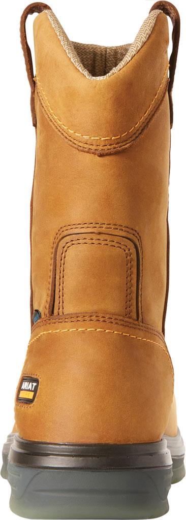 Men's Ariat Turbo Pull On H2O Soft Toe Work Boot, Aged Bark Waterproof Full Grain Leather, large, image 3