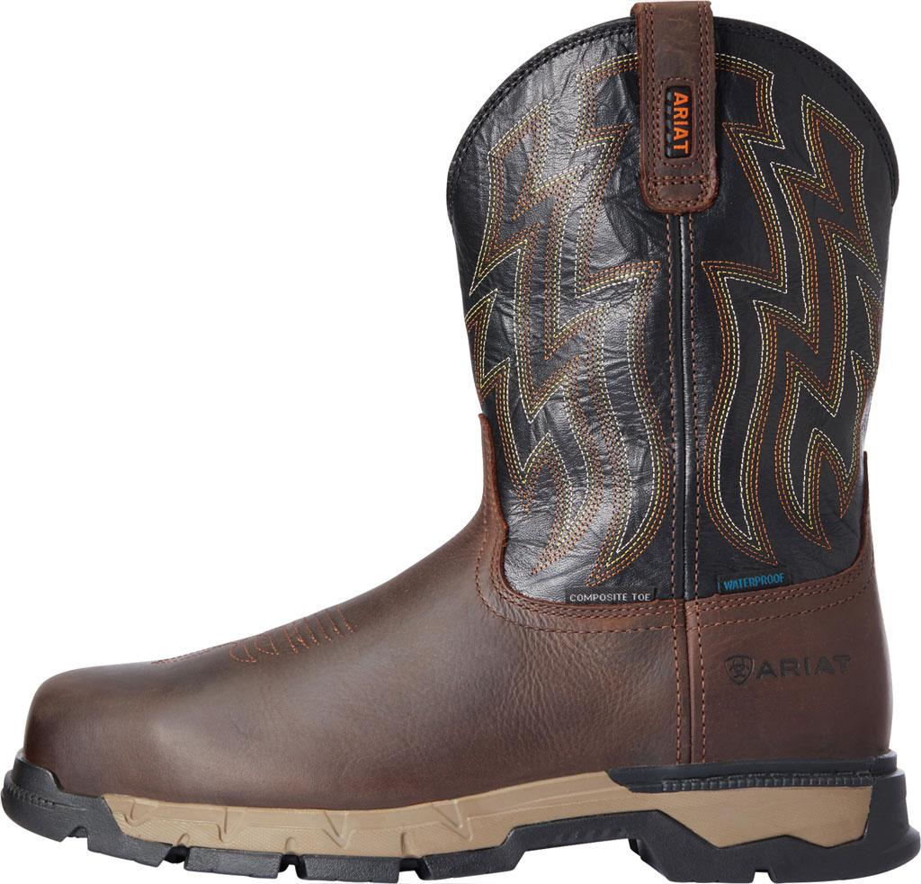 Men's Ariat Rebar Flex Western H2O Composite Toe Boot, Dark Brown/Black Waterproof Full Grain Leather, large, image 2