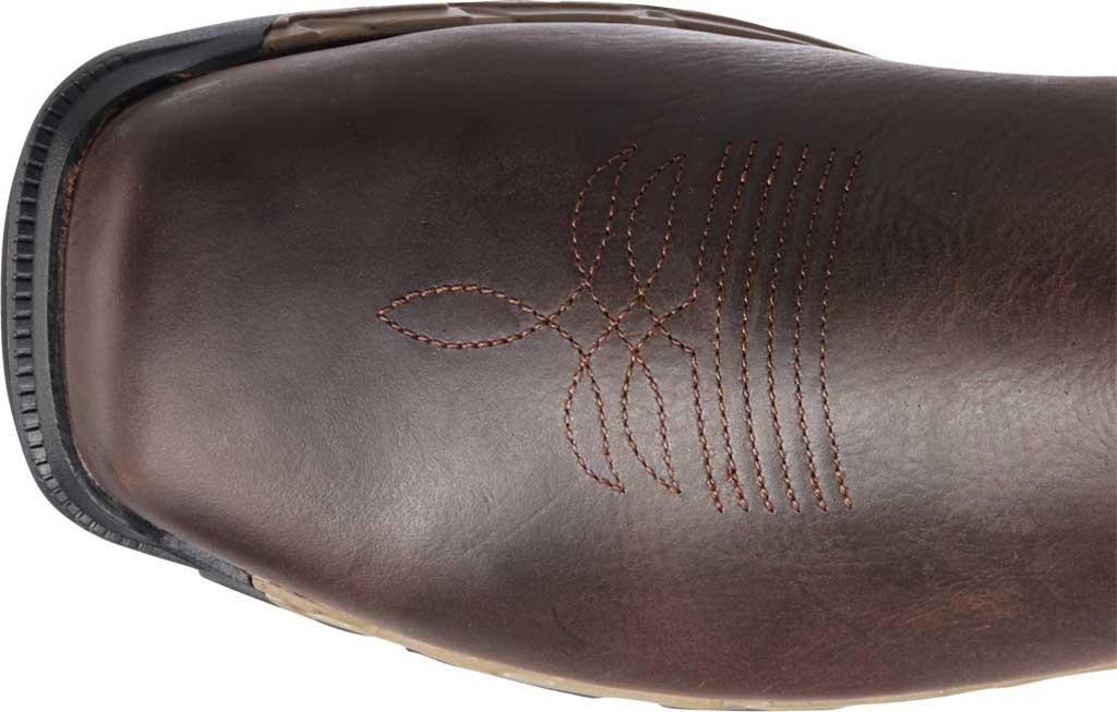 Men's Ariat Rebar Flex Western H2O Composite Toe Boot, Dark Brown/Black Waterproof Full Grain Leather, large, image 4
