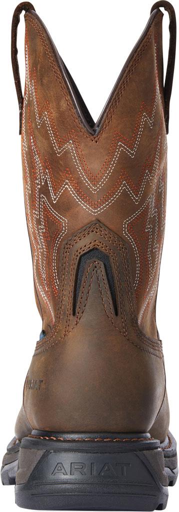 Men's Ariat Big Rig H2O Composite Toe Work Boot, Dark Brown/Distressed Brown Waterproof Full Grain, large, image 3