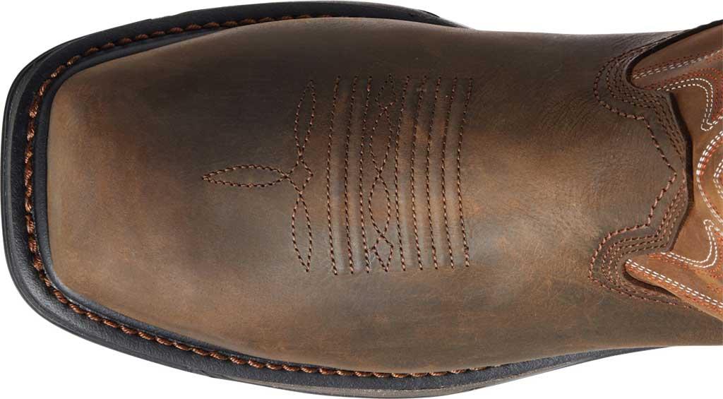 Men's Ariat Big Rig H2O Composite Toe Work Boot, Dark Brown/Distressed Brown Waterproof Full Grain, large, image 4