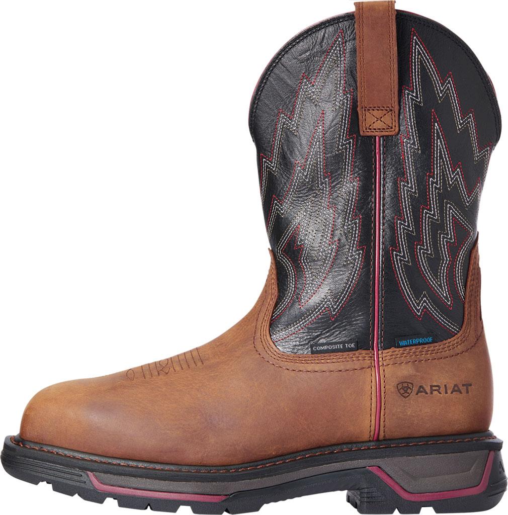 Men's Ariat Big Rig H2O Composite Toe Work Boot, Mesa Brown/Black Waterproof Full Grain Leather, large, image 2