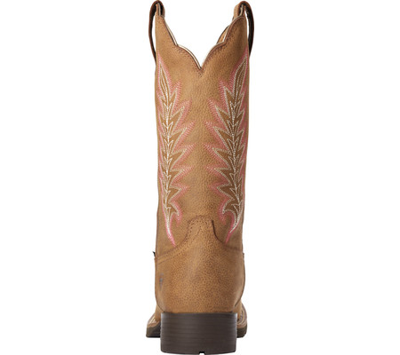 Women's Ariat Hybrid Rancher H2O Western Boot, Pebbled Tan Waterproof Full Grain Leather, large, image 3