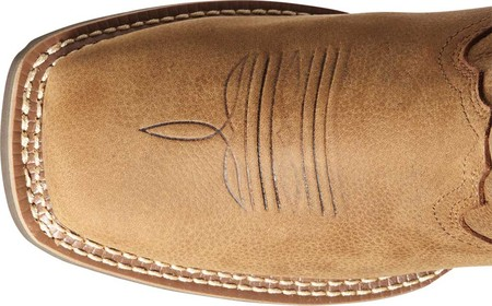 Women's Ariat Hybrid Rancher H2O Western Boot, Pebbled Tan Waterproof Full Grain Leather, large, image 4