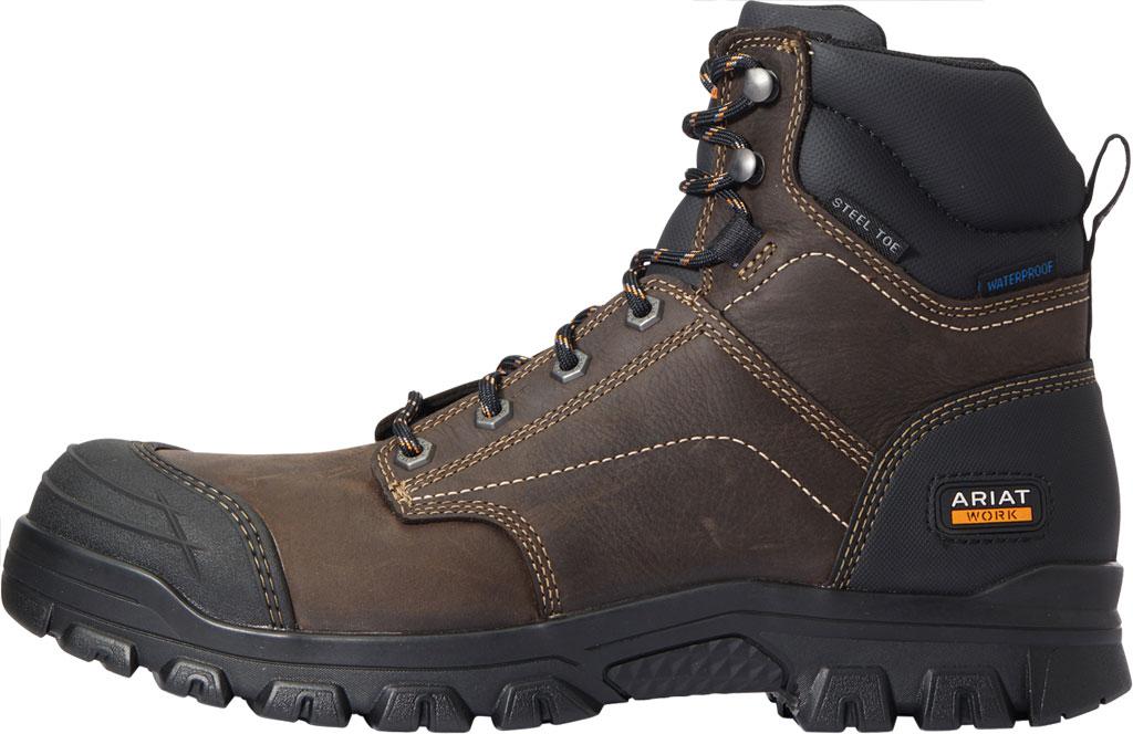 "Men's Ariat Treadfast 6"" H2O Work Boot, Dark Brown Waterproof Leather, large, image 2"