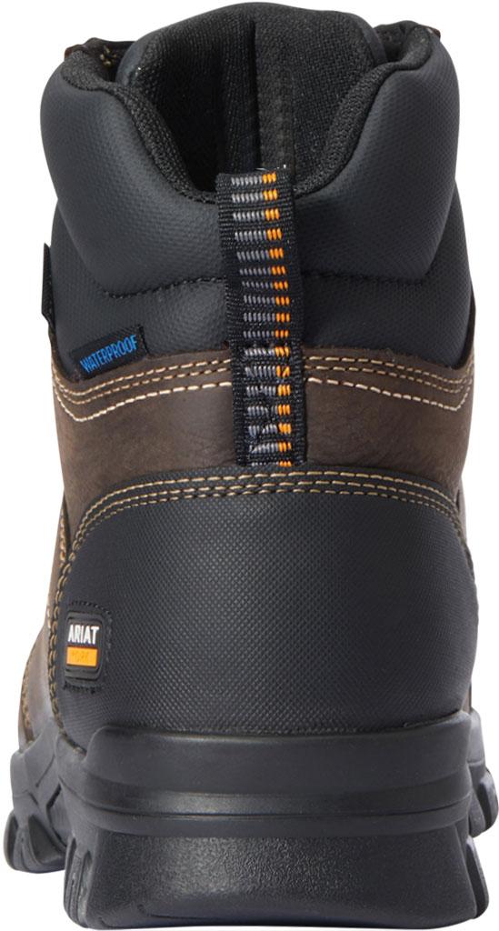 "Men's Ariat Treadfast 6"" H2O Work Boot, Dark Brown Waterproof Leather, large, image 3"