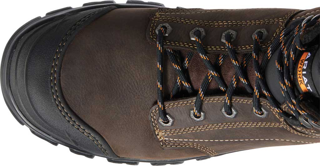 "Men's Ariat Treadfast 6"" H2O Work Boot, Dark Brown Waterproof Leather, large, image 4"