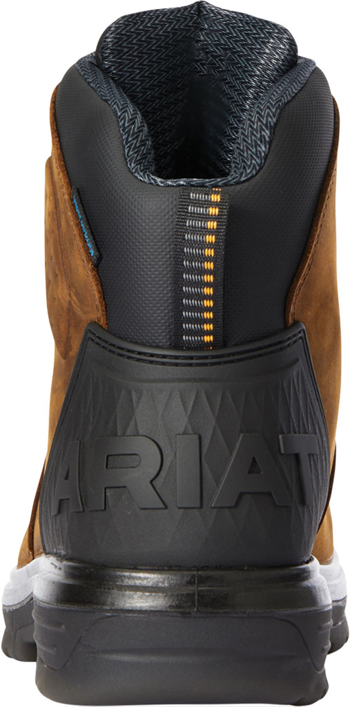 """Men's Ariat Turbo Outlaw 6"""" H2O Soft Toe Work Boot, Barley Brown Waterproof Full Grain Leather, large, image 3"""