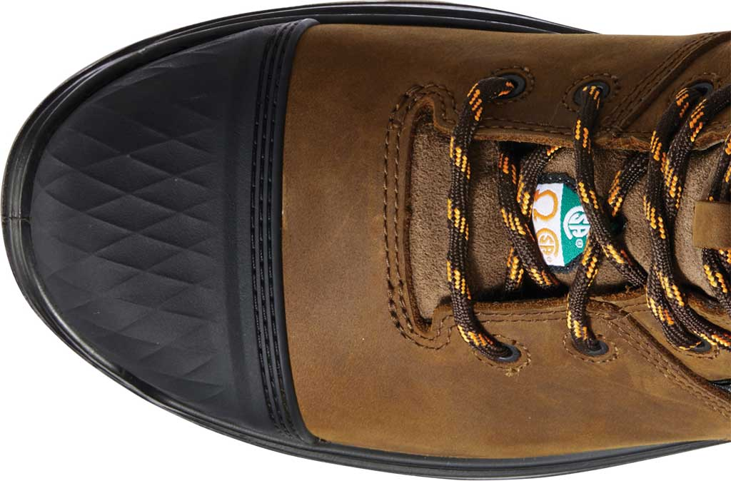"""Men's Ariat Turbo Outlaw 8"""" H2O CSA Carbon Toe Boot, Barley Brown Waterproof Full Grain Leather, large, image 4"""