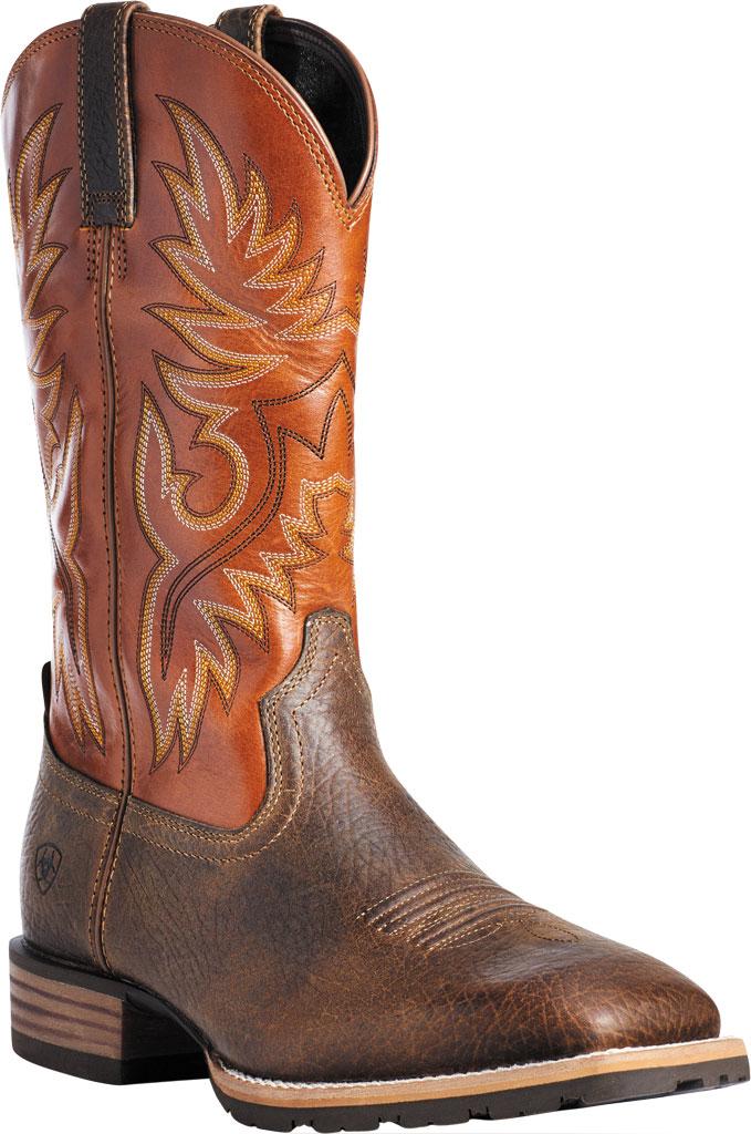 Men's Ariat Hybrid Big Cowboy Boot, Earth/Orange Full Grain Leather, large, image 1