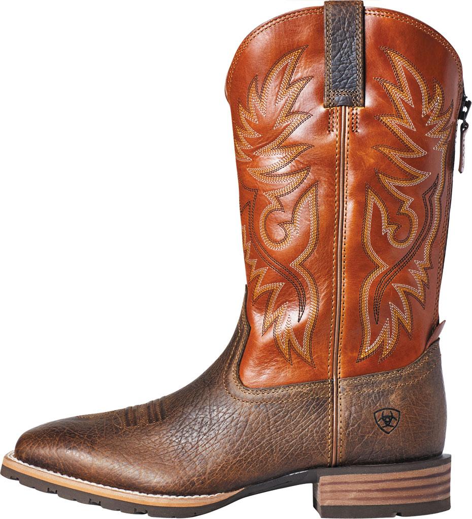 Men's Ariat Hybrid Big Cowboy Boot, Earth/Orange Full Grain Leather, large, image 2
