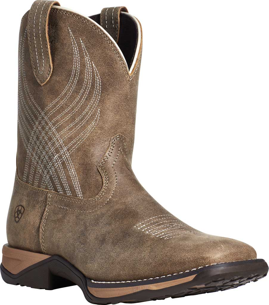 Children's Ariat Anthem Riding Boot, Brown Bomber Full Grain Leather, large, image 1
