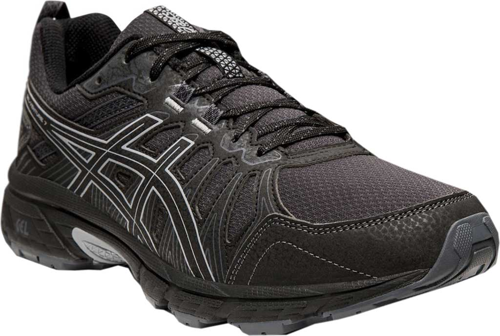 Men's ASICS GEL-Venture 7 Trail Running Shoe, Black/Sheet Rock, large, image 1