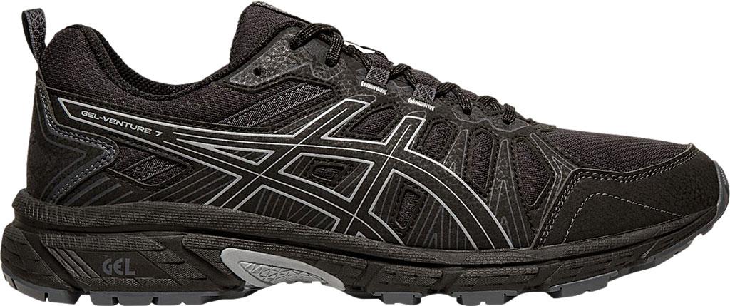 Men's ASICS GEL-Venture 7 Trail Running Shoe, Black/Sheet Rock, large, image 2