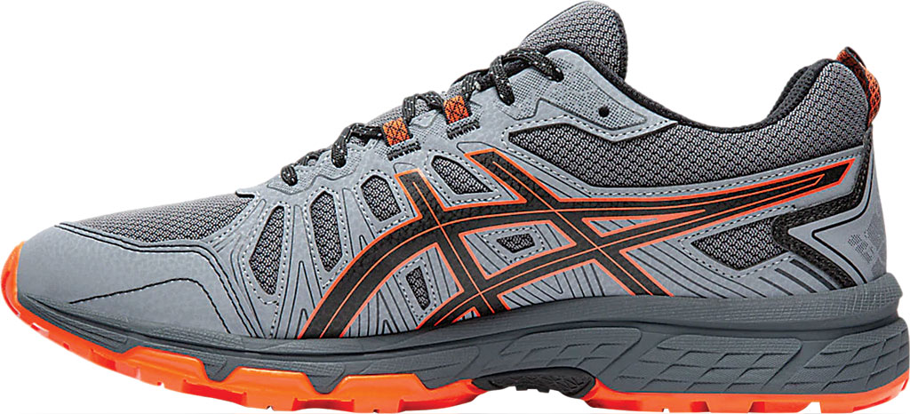 Men's ASICS GEL-Venture 7 Trail Running Shoe, Carrier Grey/Habanero, large, image 2