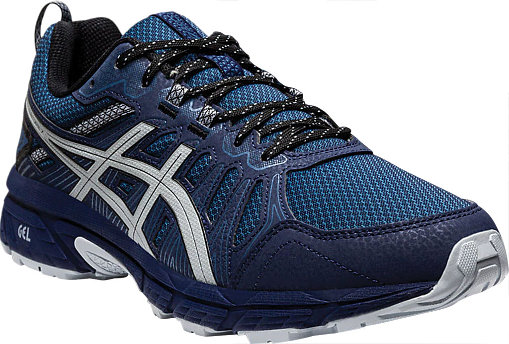 Men's ASICS GEL-Venture 7 Trail Running Shoe, Peacoat/Piedmont Grey, large, image 1