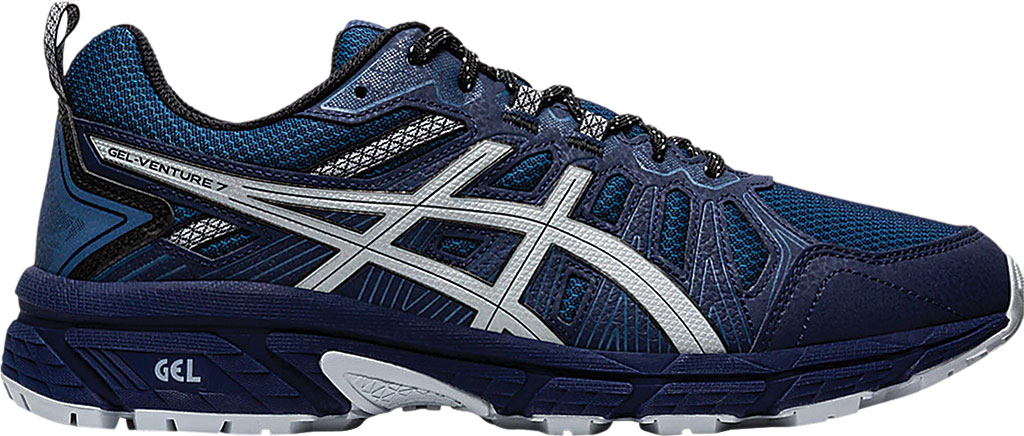 Men's ASICS GEL-Venture 7 Trail Running Shoe, Peacoat/Piedmont Grey, large, image 2