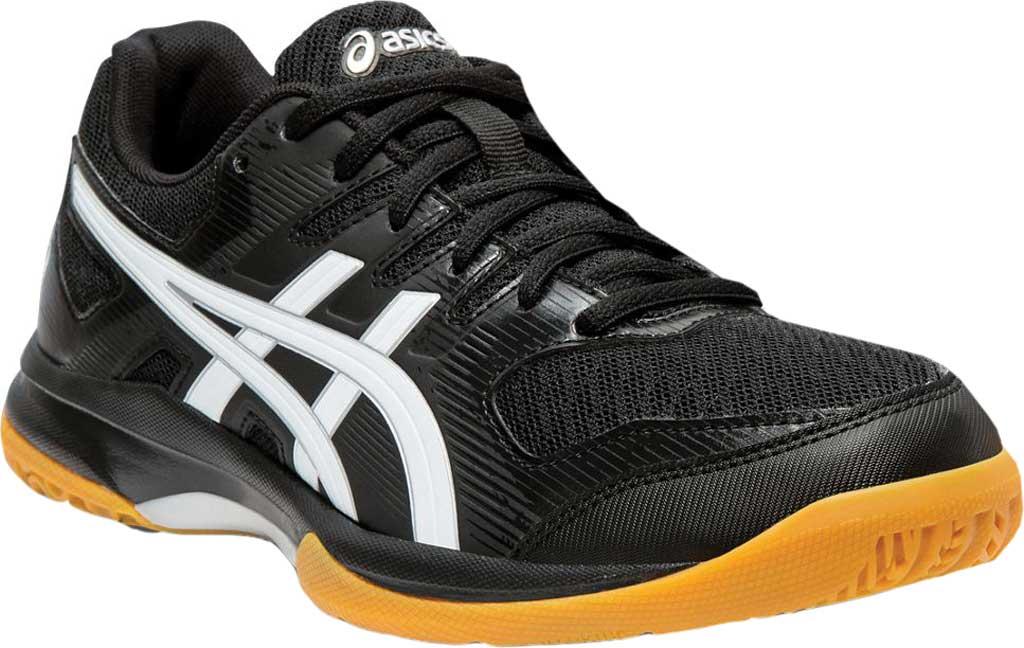 Women's ASICS GEL-Rocket 9 Indoor Sport Shoe, Black/White, large, image 1