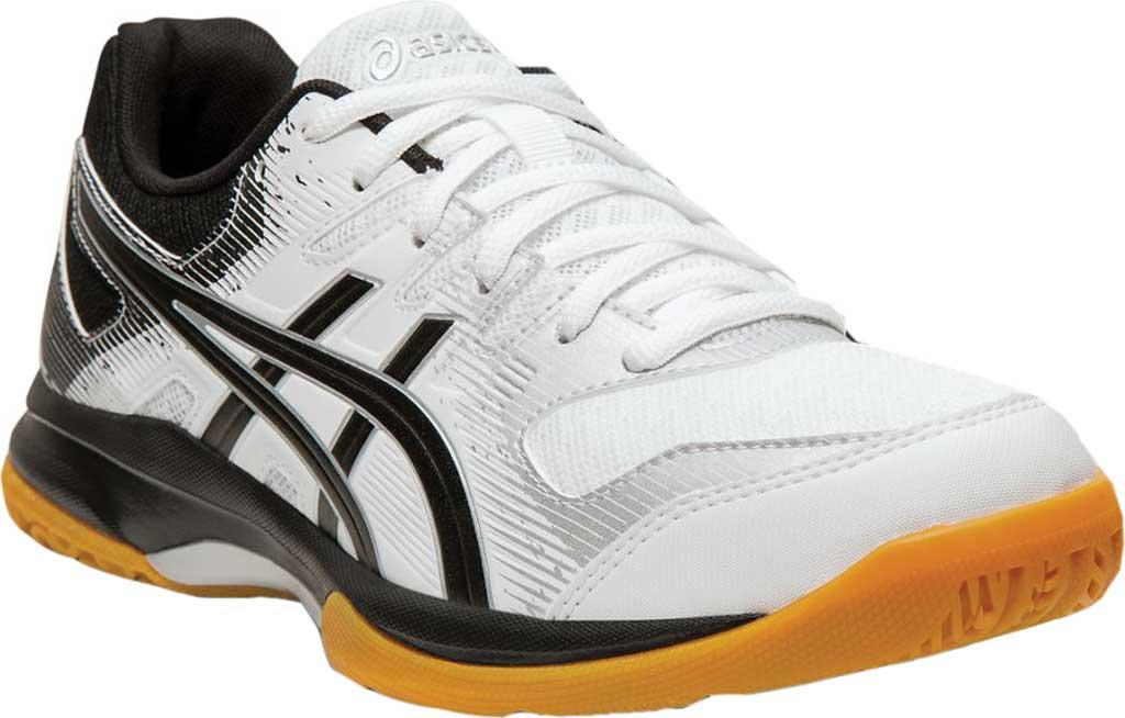 Women's ASICS GEL-Rocket 9 Indoor Sport Shoe, White/Black, large, image 1