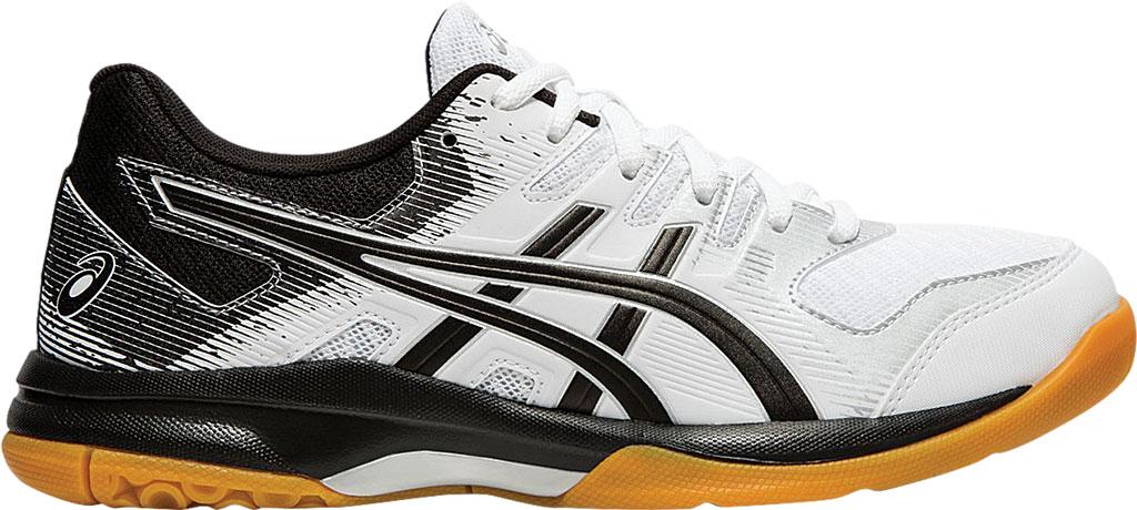 Women's ASICS GEL-Rocket 9 Indoor Sport Shoe, White/Black, large, image 2