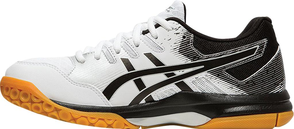 Women's ASICS GEL-Rocket 9 Indoor Sport Shoe, White/Black, large, image 3