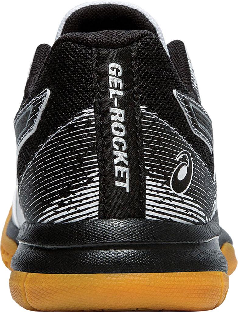 Women's ASICS GEL-Rocket 9 Indoor Sport Shoe, White/Black, large, image 4