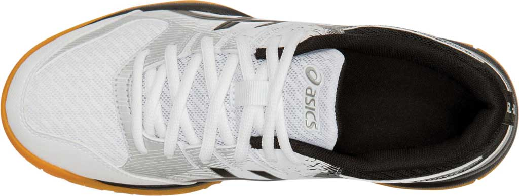 Women's ASICS GEL-Rocket 9 Indoor Sport Shoe, White/Black, large, image 5