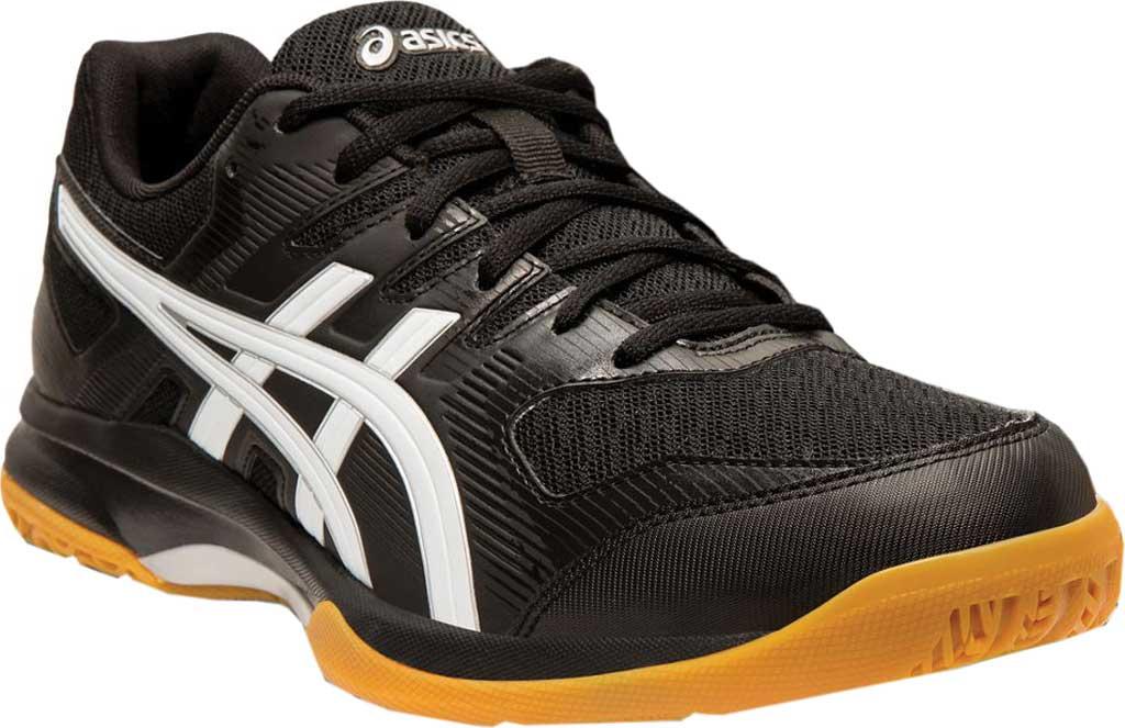 Men's ASICS GEL-Rocket 9 Indoor Sport Shoe, Black/White, large, image 1