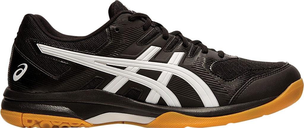 Men's ASICS GEL-Rocket 9 Indoor Sport Shoe, Black/White, large, image 2