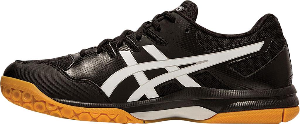 Men's ASICS GEL-Rocket 9 Indoor Sport Shoe, Black/White, large, image 3