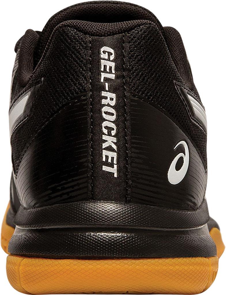 Men's ASICS GEL-Rocket 9 Indoor Sport Shoe, Black/White, large, image 4
