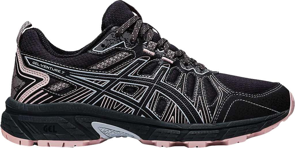 Women's ASICS GEL-Venture 7 Trail Running Shoe, Graphite Grey/Black, large, image 2