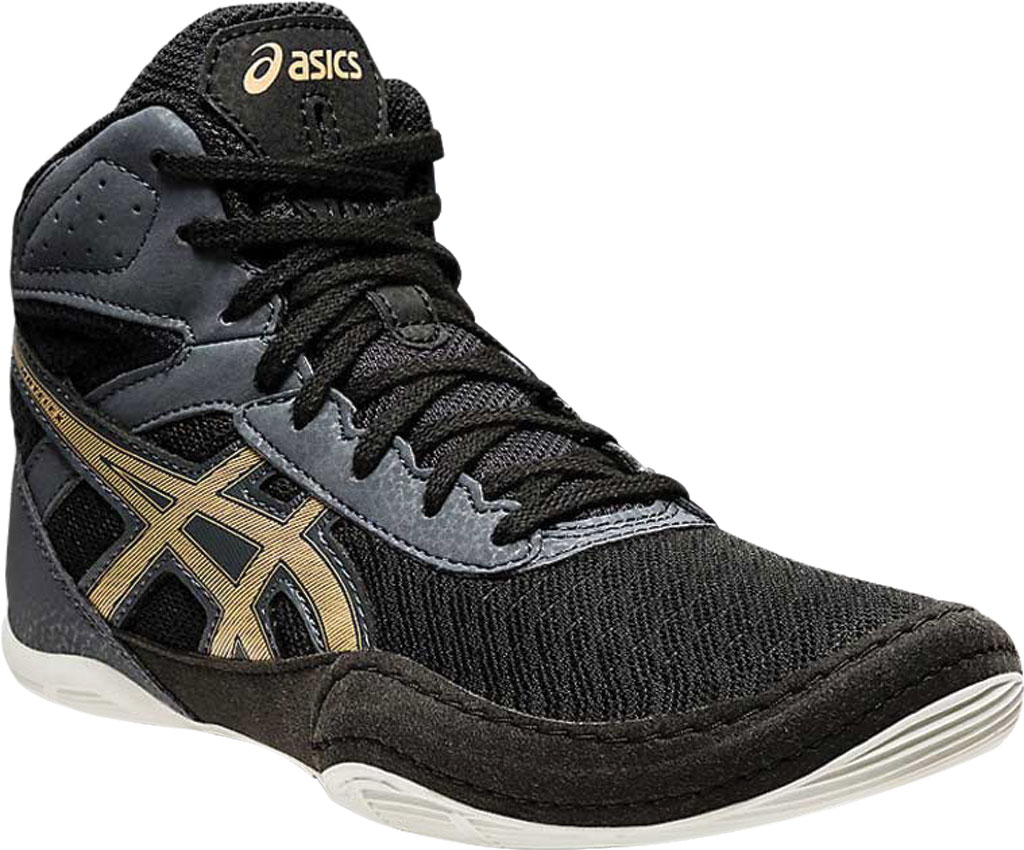 Children's ASICS Matflex 6 GS Wrestling Shoe, Black/Champagne, large, image 1