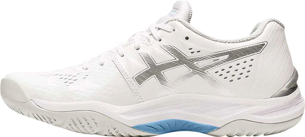 Women's ASICS Sky Elite FF Volleyball Shoe, White/Pure Silver, large, image 2