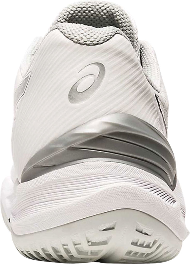 Women's ASICS Sky Elite FF Volleyball Shoe, White/Pure Silver, large, image 3