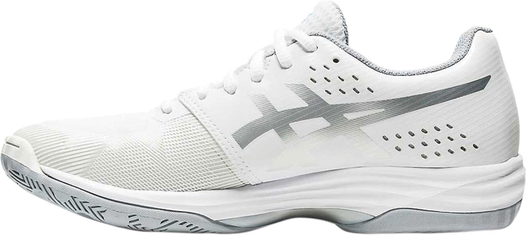 Women's ASICS GEL-Tactic Indoor Sport Shoe, White/Aquarium, large, image 3