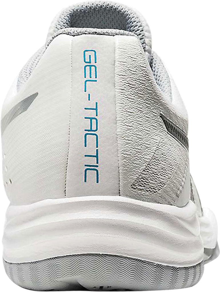 Women's ASICS GEL-Tactic Indoor Sport Shoe, White/Aquarium, large, image 4