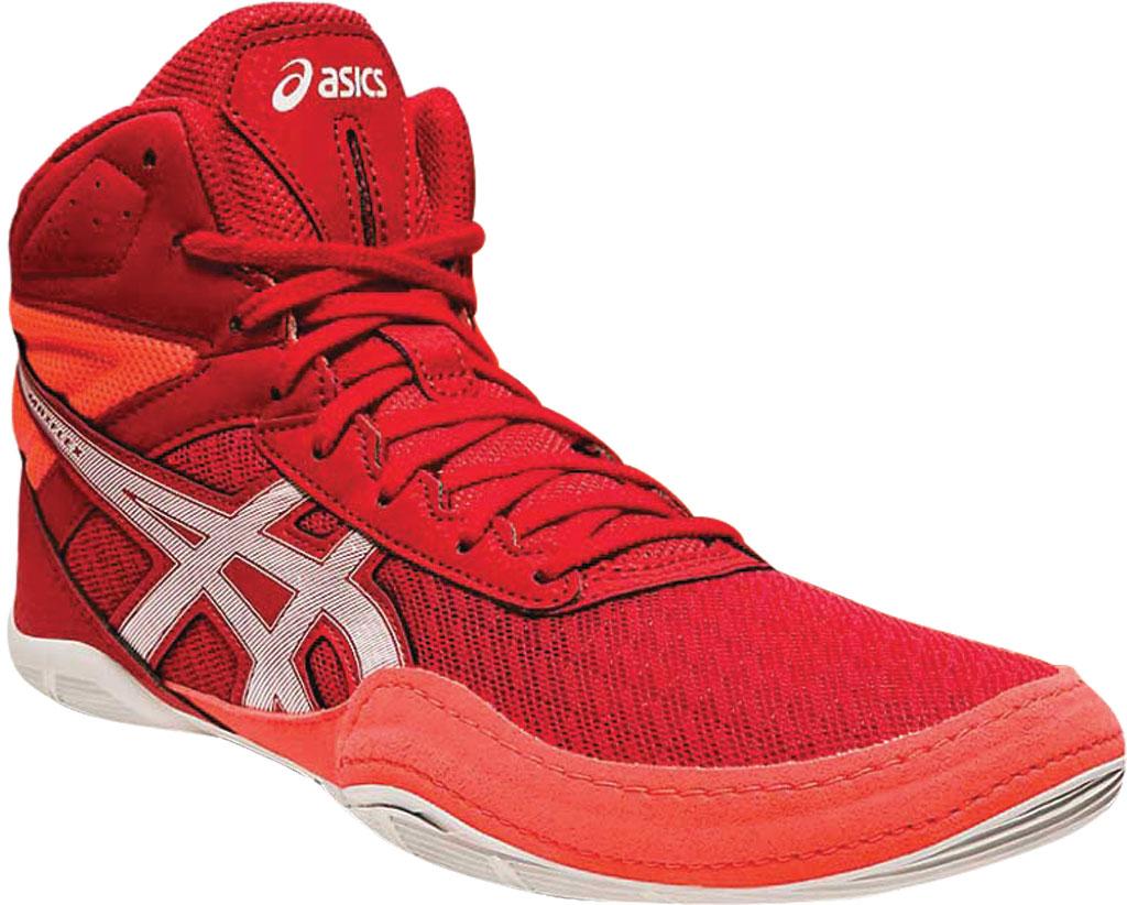 Men's ASICS Matflex 6 Wrestling Shoe, Classic Red/Flash Coral, large, image 1