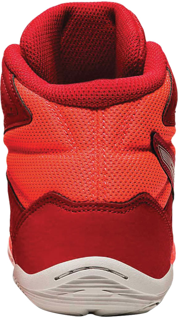 Men's ASICS Matflex 6 Wrestling Shoe, Classic Red/Flash Coral, large, image 3