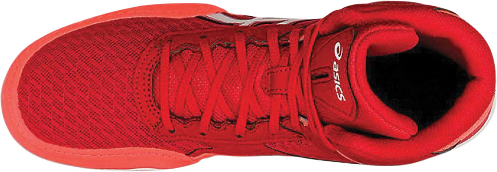 Men's ASICS Matflex 6 Wrestling Shoe, Classic Red/Flash Coral, large, image 4