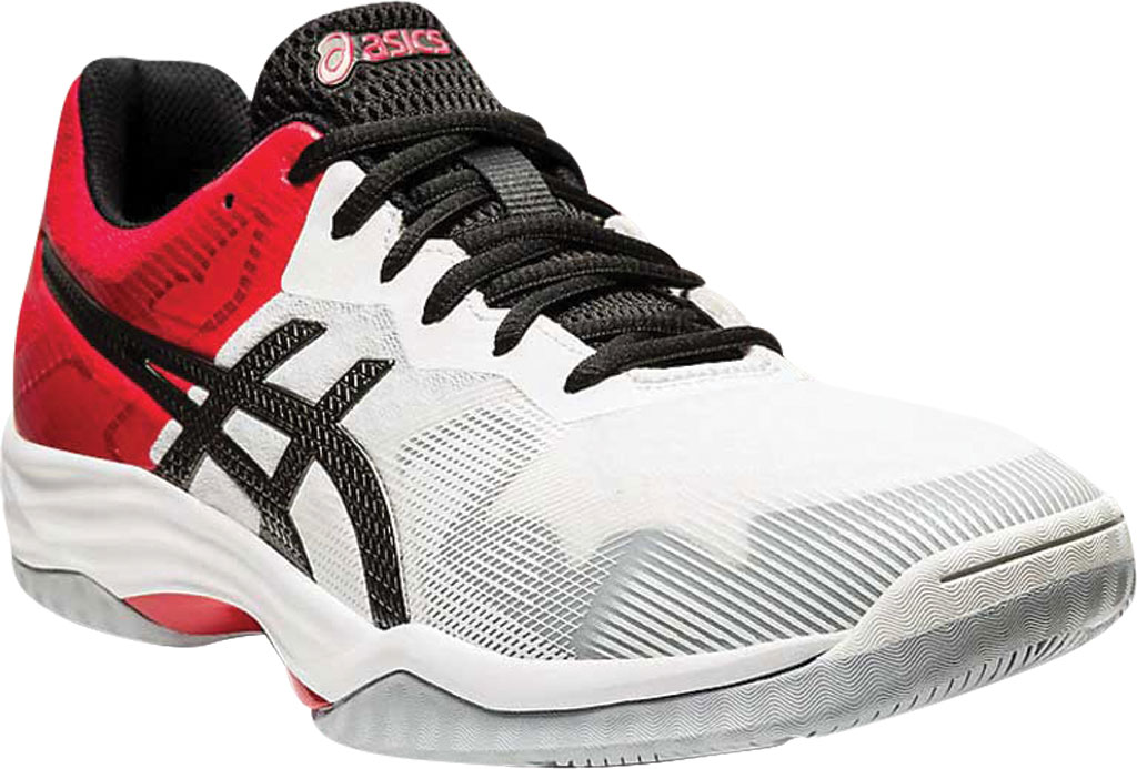 Men's ASICS GEL-Tactic 3 Indoor Sport Shoe, White/Gunmetal, large, image 1