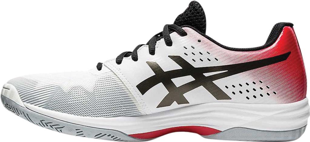 Men's ASICS GEL-Tactic 3 Indoor Sport Shoe, White/Gunmetal, large, image 2