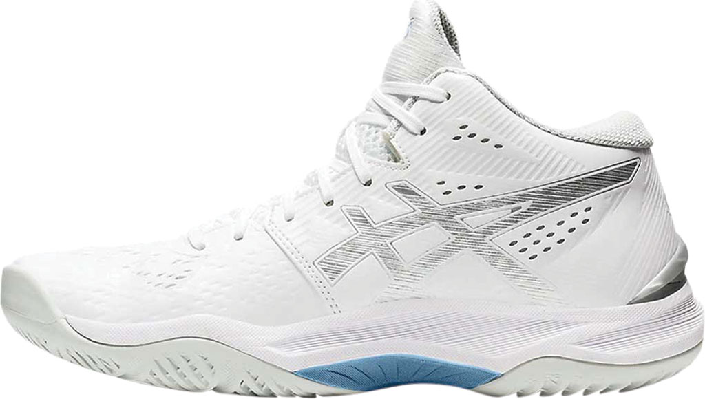 Women's ASICS Sky Elite FF MT Volleyball Shoe, White/Pure Silver, large, image 2