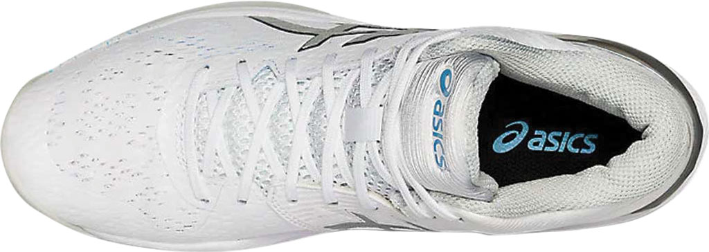 Women's ASICS Sky Elite FF MT Volleyball Shoe, White/Pure Silver, large, image 4