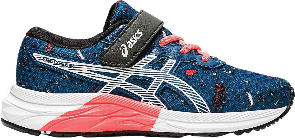 Children's ASICS Pre Excite 7 PS Running Sneaker, Mako Blue/White, large, image 2