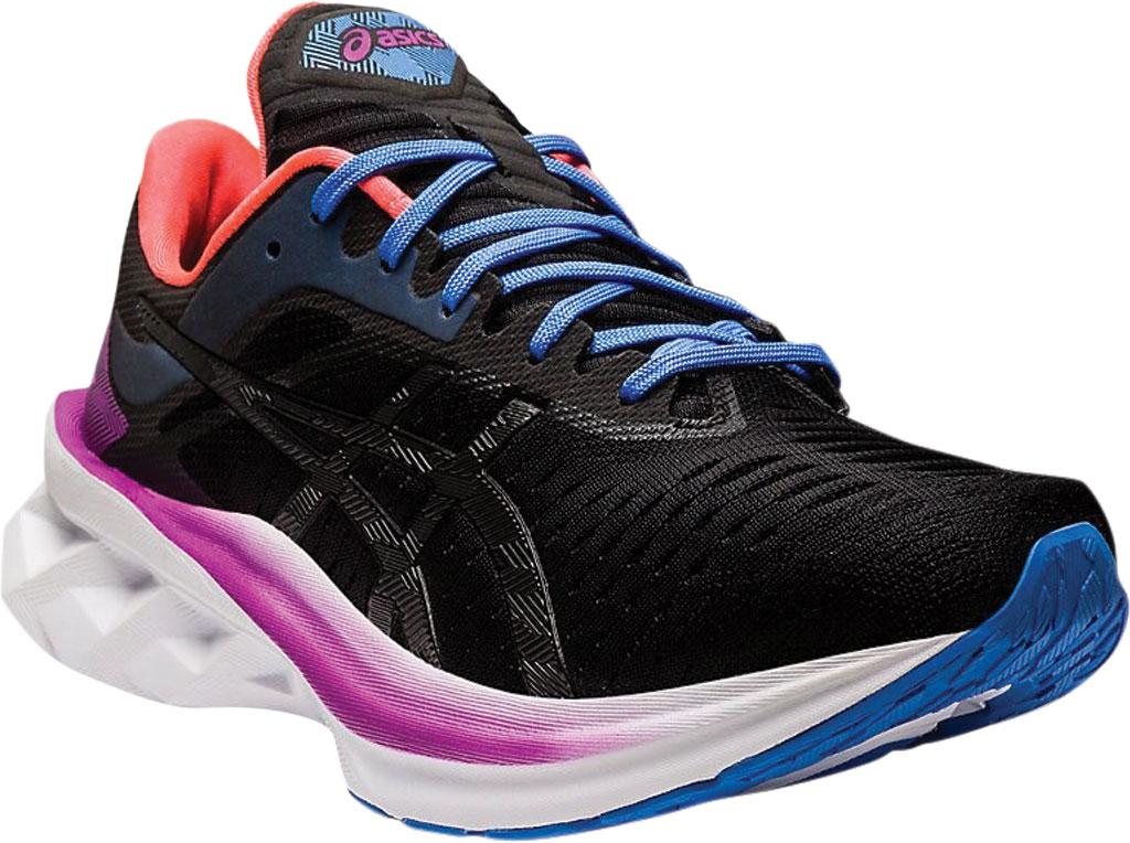 Women's ASICS Novablast Running Sneaker, Black/Black, large, image 1