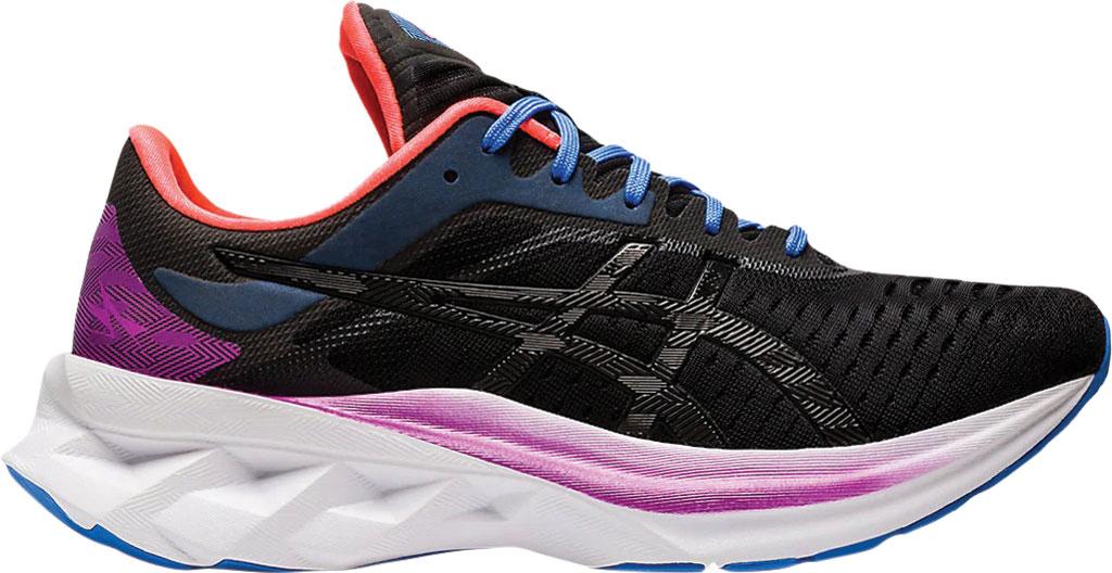 Women's ASICS Novablast Running Sneaker, Black/Black, large, image 2