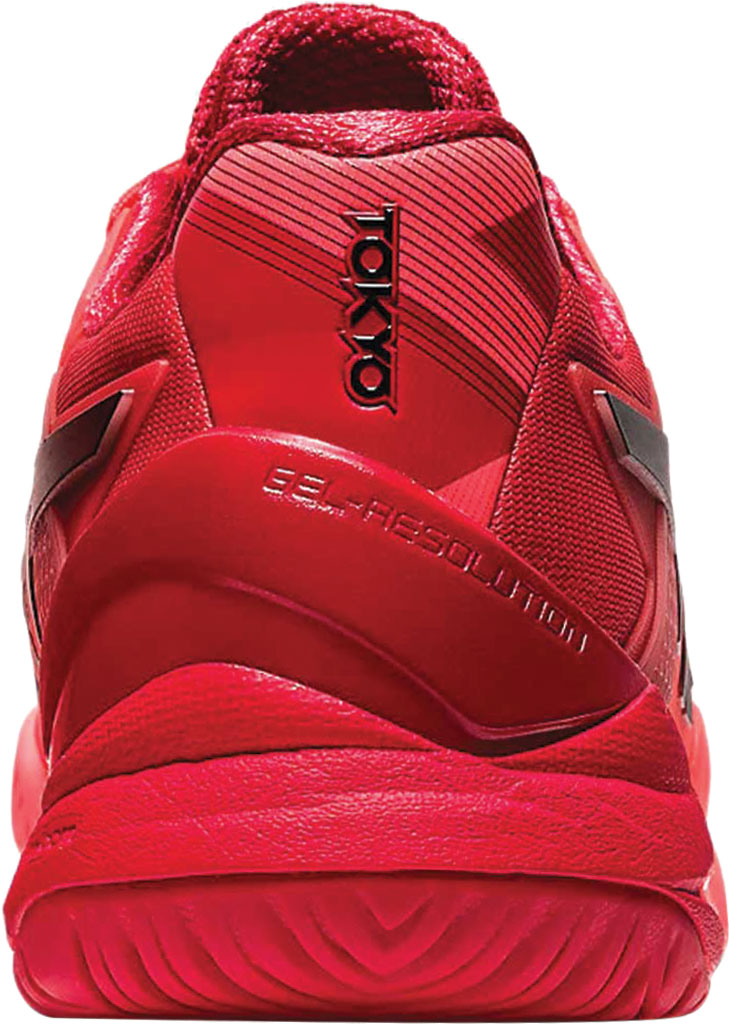 Women's ASICS GEL-Resolution 8 Tennis Shoe, Sunrise Red/Eclipse Black/Tokyo, large, image 3