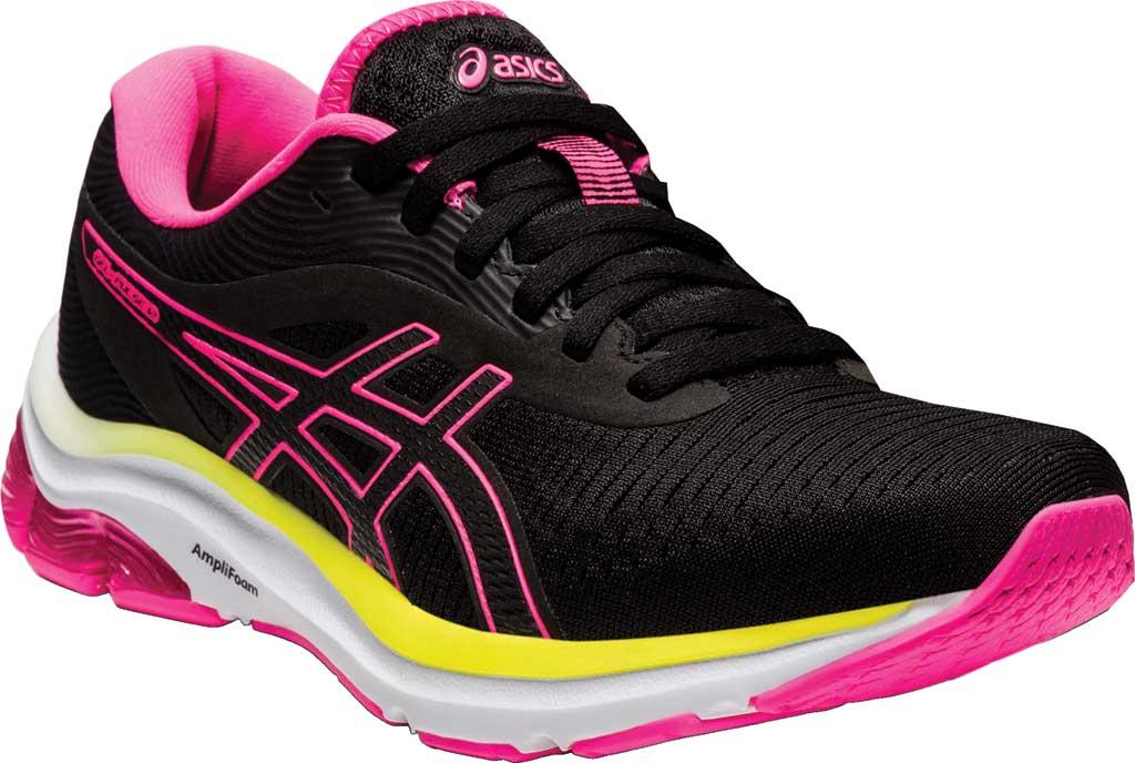 Women's ASICS GEL-Pulse 12 Running Sneaker, Black/Hot Pink, large, image 1